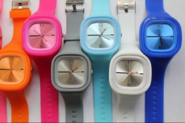 Wholesale 2012 Brand new colorful Square ss OTM lovely candy digital watches SS COM color jelly watches