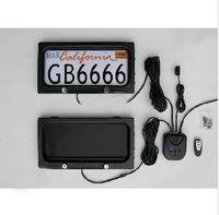 ingrosso supporto di controllo-Porta targa automobilistica in metallo USA con telecomando auto targa telaio auto americana copertura privacy S925