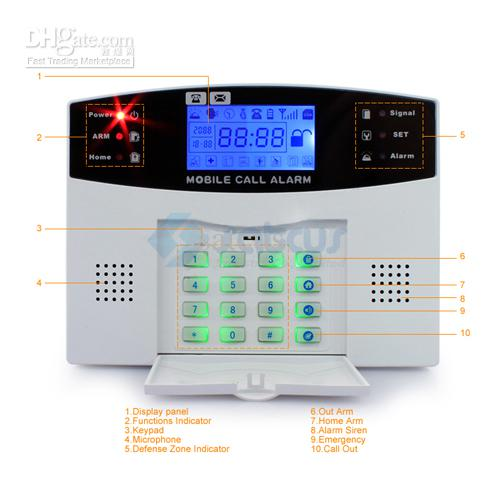 Beliebteste hohe Qualität GSM Wireless Alarmanlage Home Security Systems Voice + LCD Auto Dialer SG-111