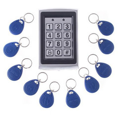 Wholesale Entry Metal Door Access Control - RFID Entry Keypads Metal Door Lock Proximity Access Control management System + 10 Key Fobs H4391