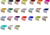 organza läufer für tisch großhandel-Mischen Sie Farbe Organza-Tischläufer 12