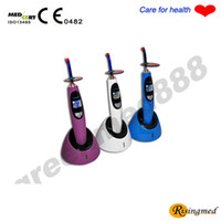 Wholesale Tooth Whitening Lamps - Dental 5W Wireless Cordless LED Curing Light Lamp 1500mw + Teeth Whitening Accelerator