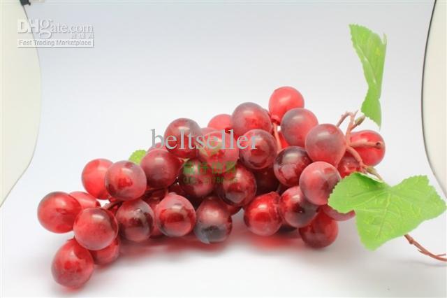 18 см длинные искусственные пластиковые фрукты искусственный виноград главная свадьба декоративные смешанный заказ 10 шт. / лот