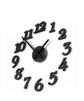 Wholesale Diy Modern Wall Clocks - New DIY Modern Time Design Wall clock decor Room black gift