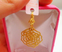Wholesale Earrings Gold 24k Wholesale - 5pairs(10pcs) Exquisite 24K gold-plated earrings! Unique pattern of gold earrings! Bridal earring