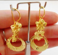 Wholesale Dangling Earrings 24k - 5pairs(10pcs) Exquisite 24K gold-plated earrings! Circle fashion pendant earrings! Bridal earrings!