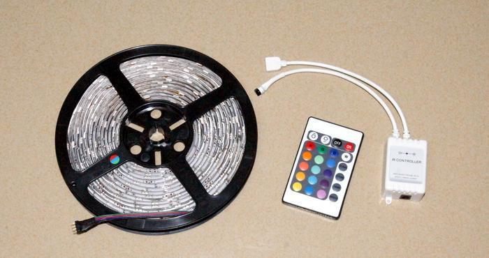 50mFlexible LED Strip Light SMD 5050 RGB Lamp 5m 150led Waterproof led light IP65 +24key IR Remote 30LED Festival