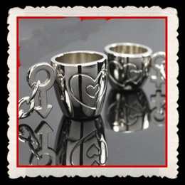 Wholesale Letter Mug - 50pcs=25PR Unique Fashion accessories mug lovers keychains alloy key chain Valentine's day gift