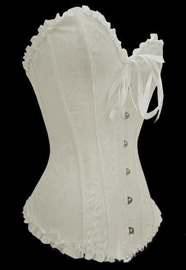Spedizione gratuita!! New Sexy White Wedding Corset Top bridal bustier Intimo femminile da donna 8111