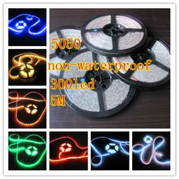 Wholesale Led Stripe Remote Rgb - LED Stripe RGB Strip 5050 SMD 5M 300 Lamp+ IR Remote Waterproof (60LED per metres)