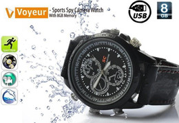 Wholesale Stainless Steel Spy Camera Watch - Free Shipping Sports Spy Camera Watch With 8GB Memory - USB Watch Sports Spy Camera Watch 5PCS