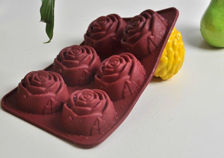 Rose Jelly Cake Recipe: 2018 Silicone Rose Shape Cake Pan 6cups Muffin Cupcake Pan