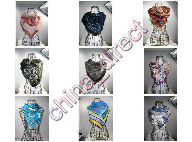 Kvadratisk 100% Silk Neck Scarves Silk Scarf Scarves 10st / # 1790