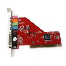 Wholesale Pci Sound Cards - Wholesale Free Shipping 1 Piece New PCI 4 Channel MIDI 3D Audio PC Sound Card Game Port
