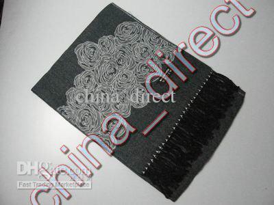 Womens Rose design Pashmina Scarf Shawl Cashmere Neckscarf scarf wrap gift 12pcs/lot hot #1831