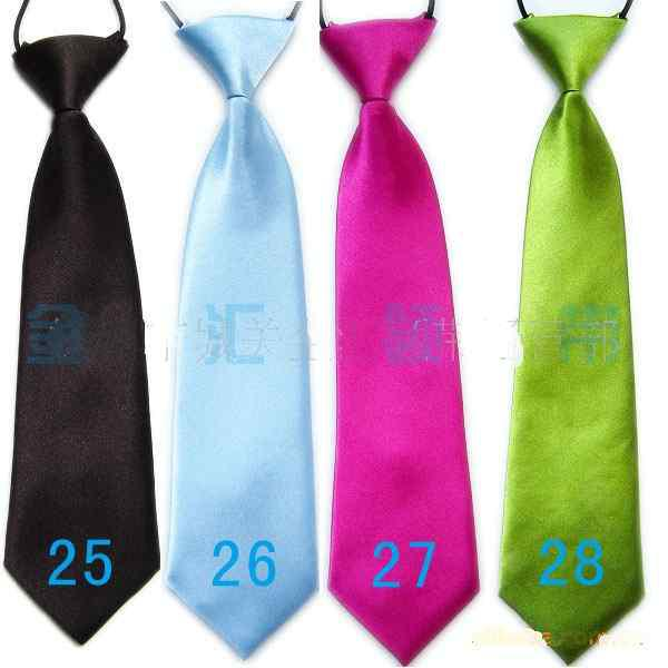 Baby Boy scuola matrimonio cravatte elastiche collo cravatte-tinta unita tinta unita 32 scuola bambino cravatta ragazzo