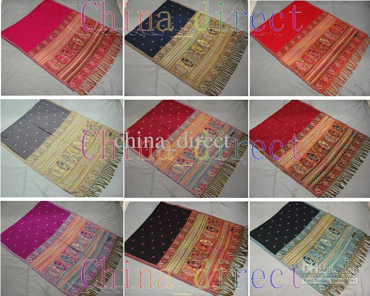 NUEVA bufanda de la manera del chal del mantón chal bufandas ponchos envolver 11 unids / lote # 1877