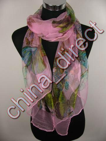 Meisjes Womens Silk Butterfly Design Sjaal Wrap Sjaals Neckscarf Wrap 15 stks / partij # 1887