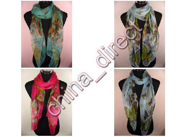 девушки женская шелковая бабочка дизайн шарф Wrap шарфы Neckscarf обернуть /много #1887