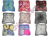 Wholesale Wholesale Neck Silk Scarves - 90cm Square 100% silk Scarf Neck scarves silk scarf SCARVES 10pcs lot #1893