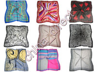 Wholesale Silk Square Neck Scarves - 90cm Square 100% silk Scarf Neck scarves silk scarf SCARVES 10pcs lot #1893