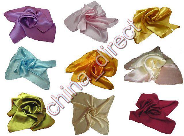 Zwykły kwadrat 100% jedwabny szalik szyja szaliki jedwabny szalik szaliki urok 20 sztuk / partia # 1902