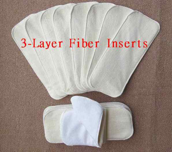 New 3-Layer Baby land Baby Cloth Diaper Nappy Liners Inserts