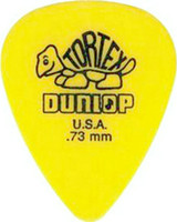 72 pièce Guitar Picks 73 mm Picks jaune Dunlop Tortex Guitare