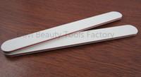 Wholesale Sandpaper Wholesale - 50pcs lot 100 180 White sandpaper nail file for nail care nail art,manicure tools