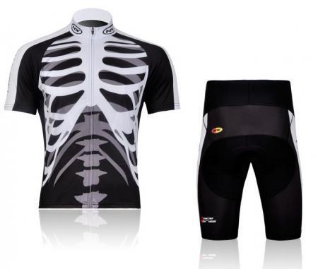 Cycling Bicycle Skeleton Comfortable Jersey + Shorts Bike