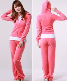 $enCountryForm.capitalKeyWord Canada - Pure Pink Women Tracksuit Velour Hoodie Pants S M L XL MIX LOT OF 10PCS