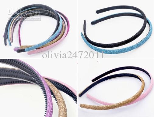 Dzieci Kolorowe Shiny Grind Żywica Hairbands Dorosłych Dzieci Cukierki Kolor Opaski Damskie 50 sztuk Darmowa Wysyłka