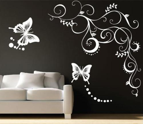 Good FLOWER BUTTERFLY VINE Mural Art Wall Decal Sticker Graphic Vinyl Wall  Decals Stickers Decor M 2462 Good Ideas