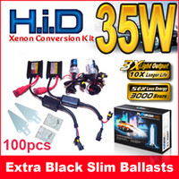 hb4 hid conversion kit 2018 - 100PCS 12V 35W SLIM HID XENON KITS H1 H3 H4 H7 H8 H9 H11 H13 9004 5 6 7 HB1 HB3 HB4 HB5 4300K-12000K