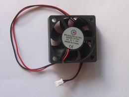 fan dc48v Rebajas Sin escobillas DC Cooling Blade Fan 5V negro 2 cables 4010 4510 5015 6010 4 pzas por lote