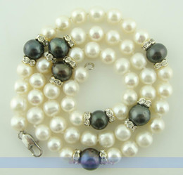 mexican gold chain prices 2018 - FINE Genuine 18inch Natural FW White & Black Pearl Necklace | LOW PRICE HIGH QUALITY cheap mexican gold chain prices