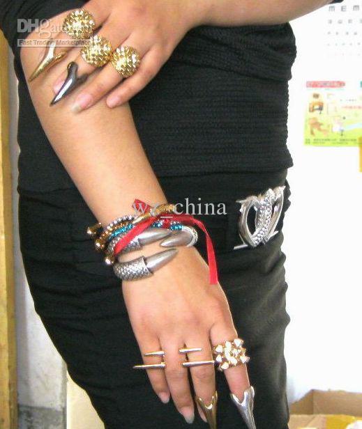 工場価格!男性と女性のための魅力の指輪金の指ネイルリング30pcs /ロット