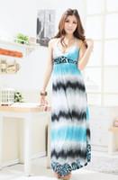 Wholesale Sexy Leopard Long Dress - Womens dress fashion sexy maxi long dress leopard halter dress evening chiffon Party dress 75329