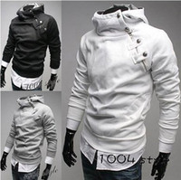 Wholesale Mens High Standing Collar Coat - Men Fashion Jacket Men Hoodies Jacket High Collar Jacket Mens Jackets and Coats
