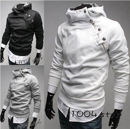 Wholesale Mens High Standing Collar Coat - Men Fashion Jacket Men Hoodies Jacket High Collar Jacket Mens Jackets and Coats