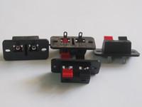 terminais de alto-falante venda por atacado-50 Pcs 38x19mm 2pin Vermelho e Preto Tipo Push Speaker Terminal Board Conector Venda QUENTE
