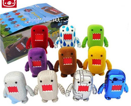Wholesale Big Domo - New DOMO KUN 2 inches doll sepcial collection come with box children kid toy gift 10pcs set