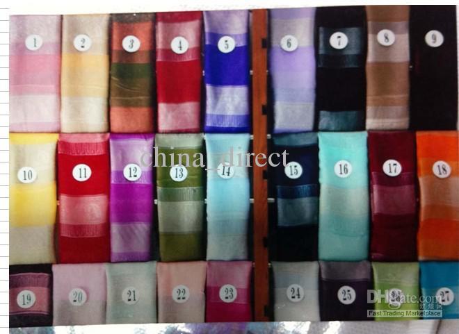 Шелковый шарф Шарф шарф шарф шейный платок мягкий 14 шт. / лот #1915