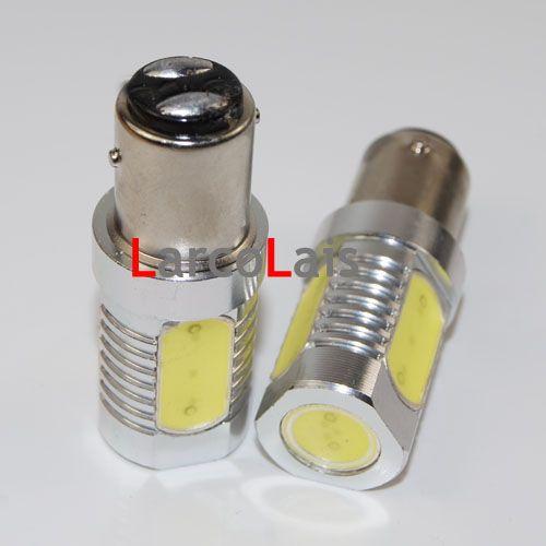 2 x 1157 Bay15d 6W High Power Super Bright Auto LED Włącz Żarówka Żarówka DC 12 V Biały