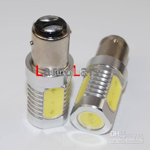 2 x 1157 BAY15D 6W 높은 전원 슈퍼 밝은 자동 LED 회전 브레이크 꼬리 전구 조명 DC 12v 화이트