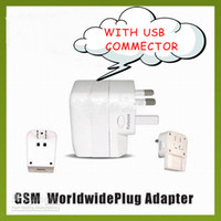 US / EU / UK / AU Interfaz USB Conectores Plugs Sockets 4 en 1 Universal Travel Travel Adapter