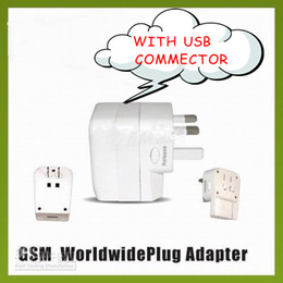 Wholesale Interface Travel - US EU UK AU USB interface Converter Plugs & Sockets 4 in 1 Universal World Travel AC Power Adaptor