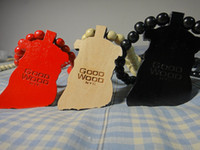 Wholesale Wooden Beads Wholesale Free Shipping - NATURAL GOOD WOOD JESUS PENDANT WOODEN NECKLACE HIP HOP JEWELRY BEAD CHAIN 10pcs lot Free Shipping