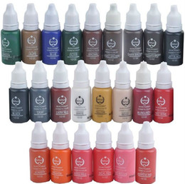 Wholesale Micro Pigment Cosmetic - 23 Colors Permanent Makeup Ink & Bio-Touch Micro Pigment Cosmetic 15ml Bottle for Tattoo Kits Supply Permanent Makeup Ink