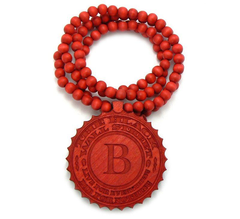 10PCS/LOT Hip Hop WOODEN THE BLACK WALL STREET PENDANT + 36 INCH GOOD WOOD BEADED NECKLACE CHAIN
